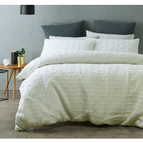 Bowen Quilt Cover Set by Phase 2/WHITE