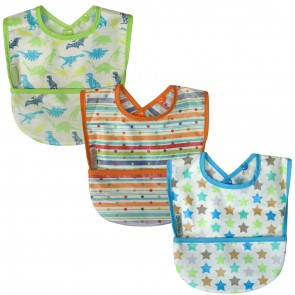 Silly Billyz Wipe Clean Pocket Bib 3 Pack