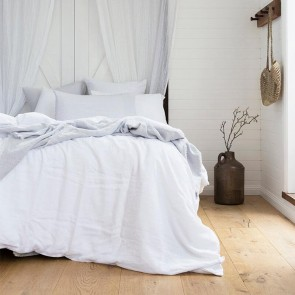 French Super King Linen Quilt Cover Set by Bambury