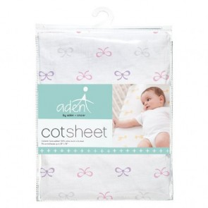 Lavender Lady Muslin Fitted Cot Sheet - Aden by Aden and Anais