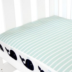 Breezy Blue Fitted Sheet by Amani Bebe