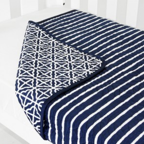 Cot Quilt Coverlet Breezy Blue by Babyhood