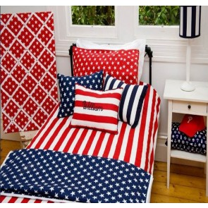 Brighton Red Double Quilt Cover Set by Lullaby Linen
