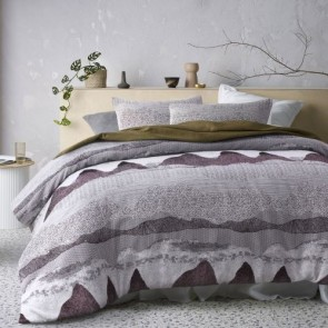 Bulla Burgundy Jacquard Quilt Cover Set by Accessorize