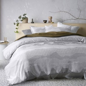 Bulla Silver Jacquard Quilt Cover Set by Accessorize
