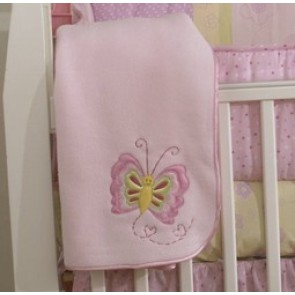Bedtime Butterfly Garden Fleece Blanket by Amani Bebe