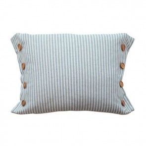 Button Stripe Blue Cushion by MM Linen