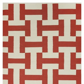 Paprika Canal Cotton Rug by FAB Rugs