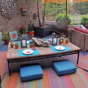 Multicolour Cancun Indoor/Outdoor Rug by FAB Rugs