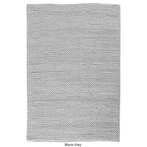 Canyon Warm Grey Hand Woven Rug by Rug Republic