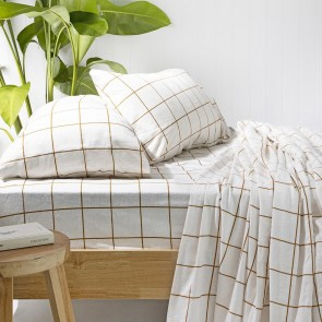 Carrington Ivory Flannelette Sheet Set by Bambury