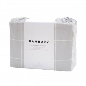 Carrington Silver Flannelette Sheet Set by Bambury