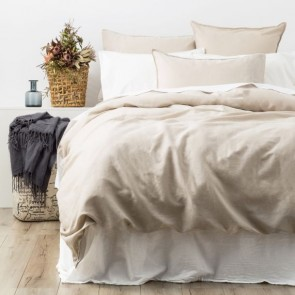 Cavallo Stone Washed 100% Linen European Pillowcase by Renee Taylor
