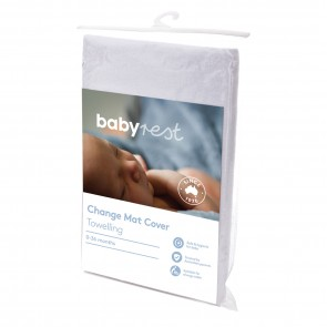 Change Mat Cover White Fitted by Babyrest
