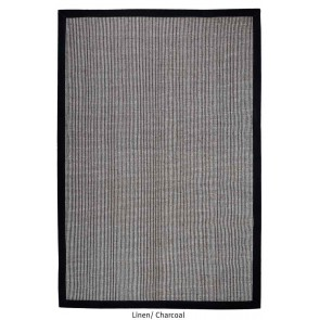Chapel Charcoal Natural Fiber Rug by Rug Republic