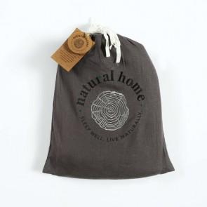 Charcoal Natural Home 100% European Flax Linen Sheet Set