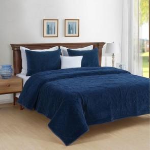 Charlotte Cotton Velvet Quilted Comforter Set by Park Avenue