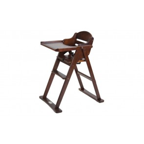 Chocolate Timber Folding High Chair by Babyhood