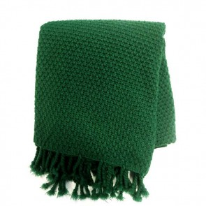 Chunky Emerald Throw by MM Linen