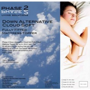 Cloud Soft Down Alternative Mattress Topper by Phase 2
