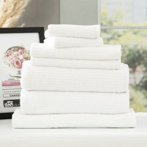 Cobblestone 650 GSM Cotton Ribbed 2pack Face Towels by Renee Taylor