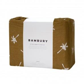 Cocos Tobacco Flannelette Sheet Set by Bambury