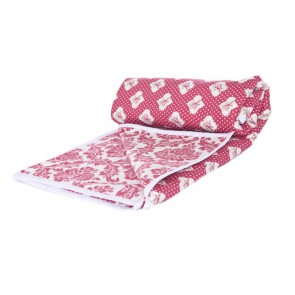 Damask Red Kids Bedding by Lullaby Linen