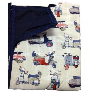 Vespa Baby Cot Comforter by Lullaby Linen