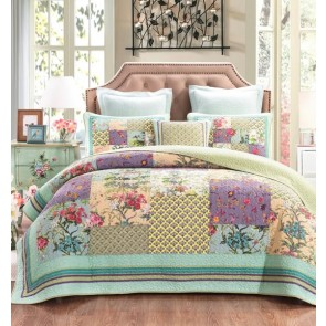 Cosmic Floral Bedspread by Classic Quilts