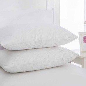 Cotton Cover Pillow Protector, Twin Pack