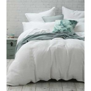 Cotton Waffle Super King Quilt Cover Set by MM linen