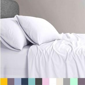 1200 TC Organic Cotton King Bed Sheet Set by Elan Linen