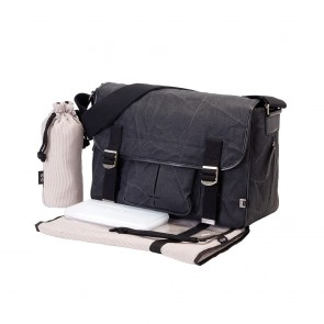 Crushed Waxed Canvas Satchel Nappy Bag by OiOi
