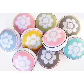 Round Flower Multiple Colours Cushion by Scout