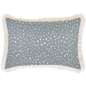 Cushion Cover Coastal Fringe Lunar Smoke by Escape To Paradise