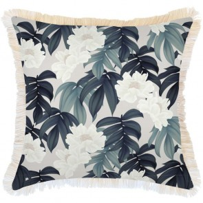 Cushion Cover Coastal Fringe Moonlight by Escape To Paradise