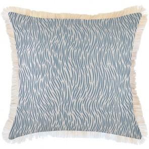 Cushion Cover Coastal Fringe Wild Blue by Escape To Paradise