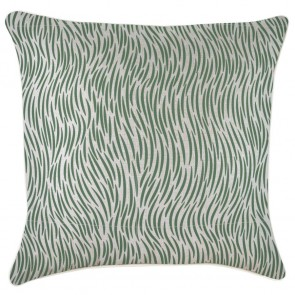 Cushion Cover With Piping Wild Green by Escape To Paradise