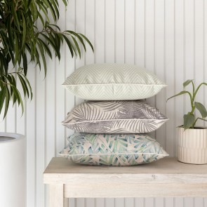 Cushion Cover With Piping Zig Zag Pale Mint by Escape To Paradise