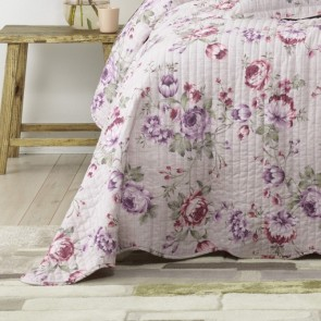 Dahlia Lilac Bedspread Set by Bianca