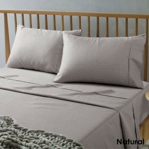 Daisy Natural Microfibre Sheets by Accessorize