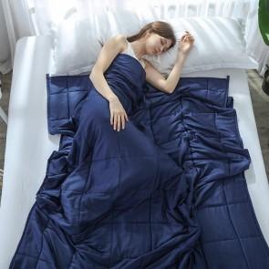 Dark Blue Weighted Blanket Full Queen Microfibre Cover Heavy Blanket