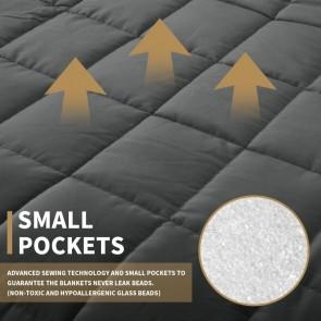 Dark Grey Weighted Blanket Full Queen Microfibre Cover Heavy Blanket