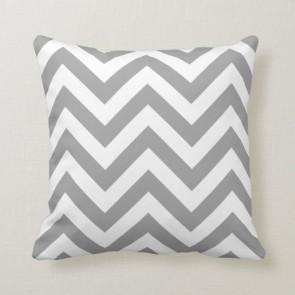 Zig Zag Grey Cushion