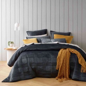 Dayton Coverlet Set Charcoal by Bianca