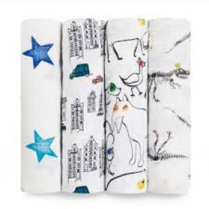 Colour Pop Classic 4-Pack Muslin Swaddle by Aden and Anais
