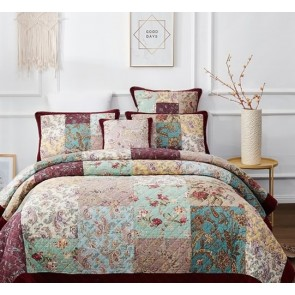 Dramatic Floral Bedspread by Classic Quilts