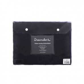 Navy 100% Cotton Jersey Fitted Sheet