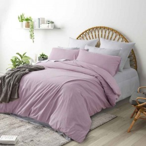 Light Pink 250TC Washed Cotton Quilt Cover Set