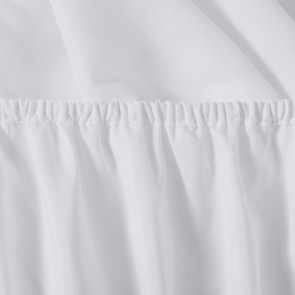White 1000GSM Plain Dyed MF Fitted Sheet